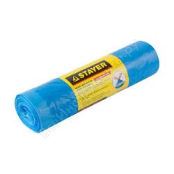 """Мешки для мусора STAYER """"Comfort"""" с завязками, особопрочные, голубые, 120л, 10шт / 39155-120"""